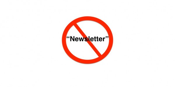 no newsletter